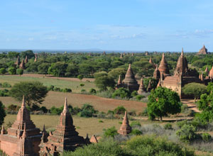 See the pagodas of Bagan on an excursion from Sanctuary Ananada