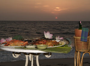 A feast on the beach at Marari Beach Resort