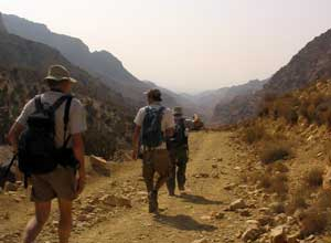 The first day is a gentle walk through Dana Nature Reserve