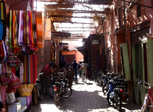 Walk through the souks in Marrakech