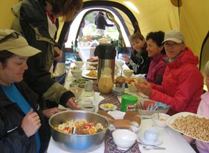 Dinner on the Inca trail