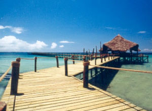 The jetty at Fundu Lagoon