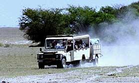 Camp fire on the Botswana Adventurer
