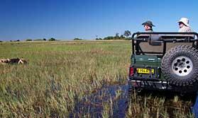 Botswana desert and delta