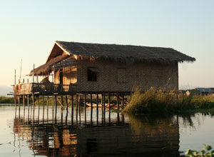 Stilt house at Inle Lake