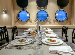 Dinner on the Australis ship