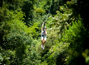 Zipline in Arenal