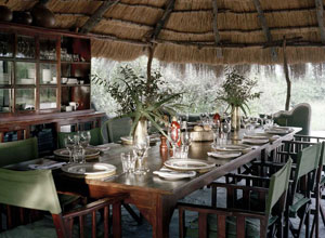 Dining area at Camp Kalahari