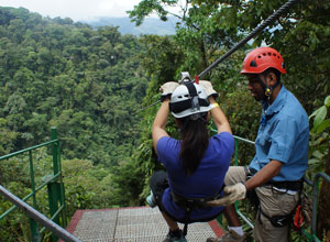 Experience the thrills of the Arenal Sky Trek
