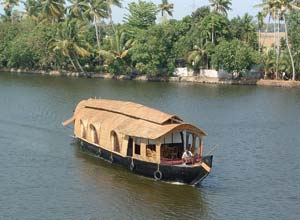 Backwater houseboat, Kerala, India