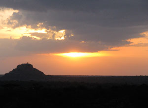 Watch the sunset on your Karisia walking safari