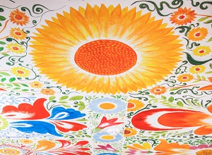 Ceiling painting at El Retablo