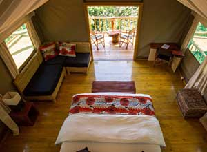 Ruzizi Tented Camp room