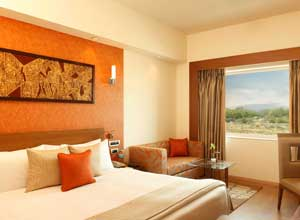 Deluxe room at Lemon Tree Premier Hotel