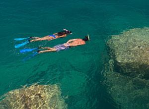 Snorkelling at Kaya Mawa