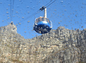 Take the cable car up to the top of Table Mountain