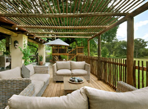 Relax in the open air lounge at Nottens