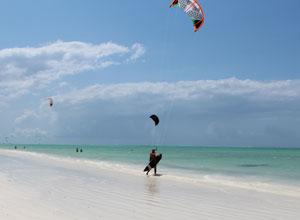 Kitesurfing at White Sand Villas and Spa