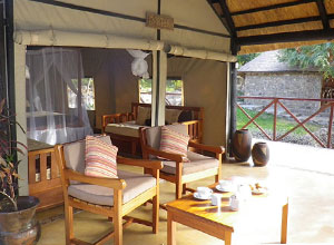 Blue Zebra Island Lodge veranda