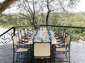 The dining deck at Chilo Gorge